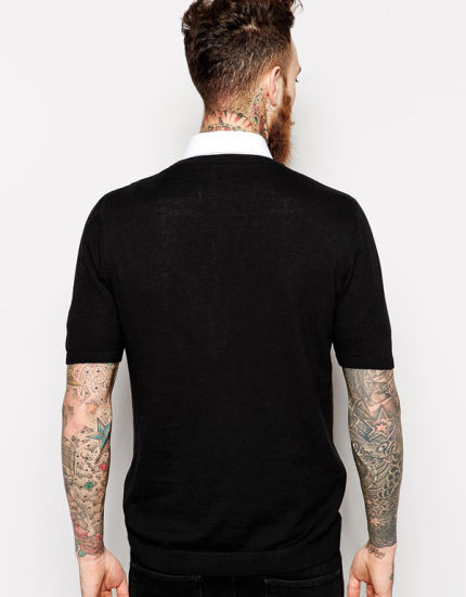 Wholesale Mens Round Neck Short Sleeve Plain Black T Shirt pictures & photos
