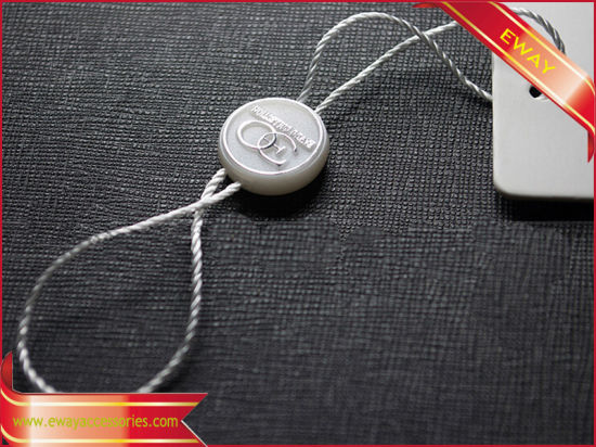 Round Plastic Tag Garment Hang Seal Tag with Logo