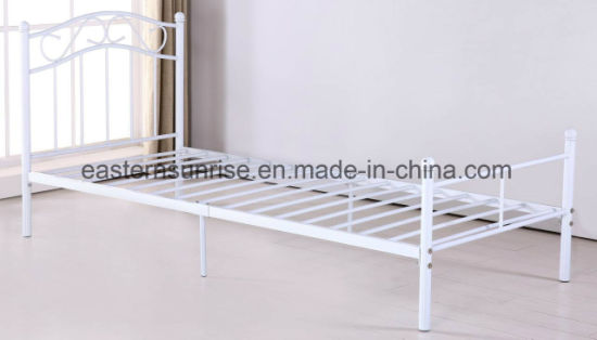 Simple School Hotel Worker Metal Steel Iron Single Bed pictures & photos