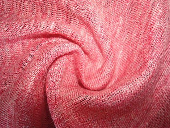 Pure Linen Heather Single Jersey Fabric pictures & photos