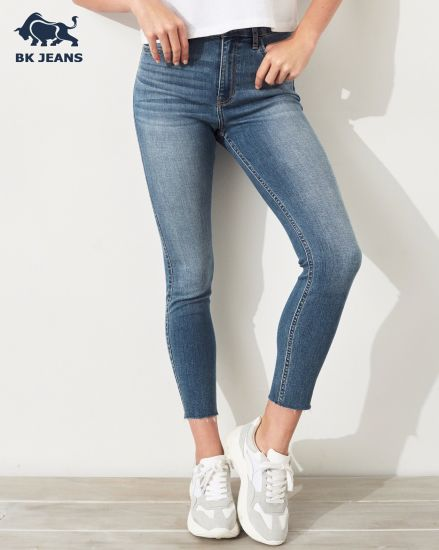 120ac298487d8 China Classic Stretch High-Rise Super Skinny Lady Jeans - China ...