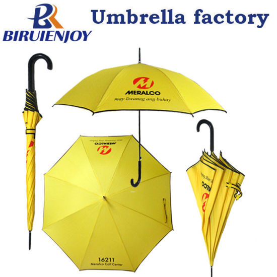 23/27/30 Inch Cheap Straight Stick Gift Umbrellas with Logo Printed for Advertising/Present/Giveaway