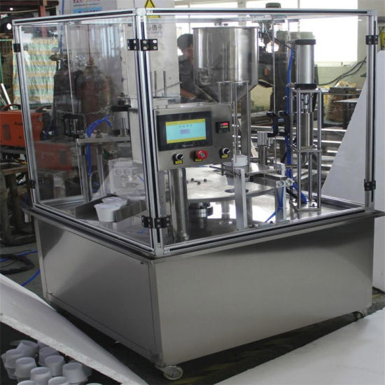 Wholesale Auto Cup Exiting Rotary Yogurt Cup Filling and Sealing Machine