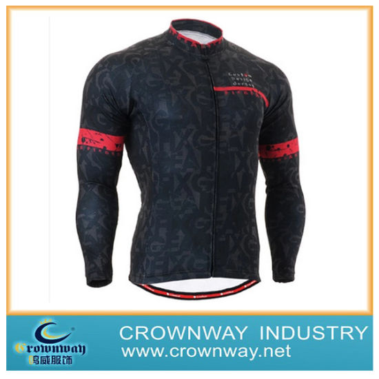 2019 Men's Outdoor Sport Long Sleeve Cycling Jersey Men's Active Tops Cycling Jersey