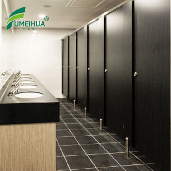 China 48mm Thickness HPL Phenolic Black Color Toilet Partitions Awesome Phenolic Bathroom Partitions Decor