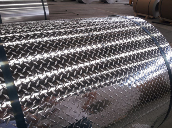 3003 Bright Finish Aluminium Diamond Coil (For skid-proof purpose) pictures & photos