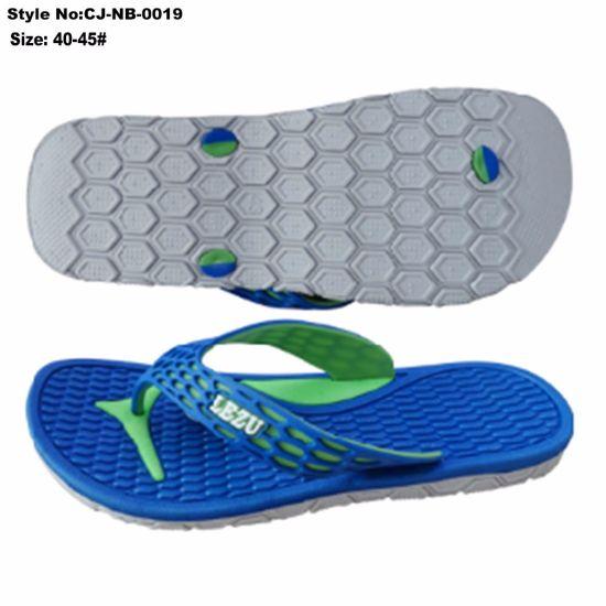 87e698a7eaecc China Beach Men′s Sandals Two Tone PVC Flip Flops Slippers Men′s ...