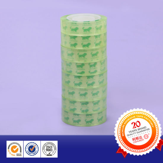 Green Film Stationery Tape with Logo