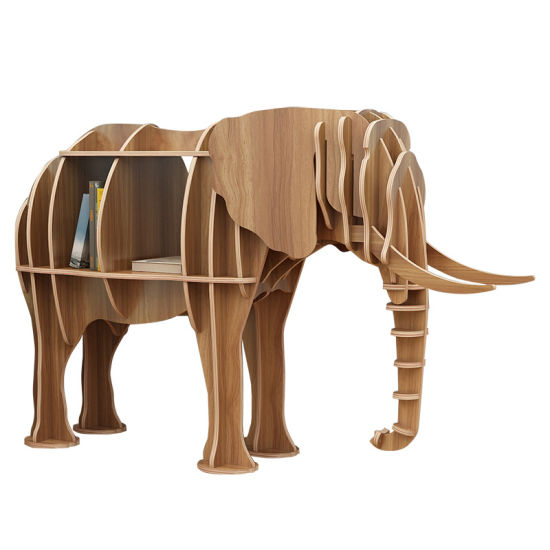 Wooden Animal Style Free Standing Display Rack Home Office Kids Bedroom Furniture pictures & photos