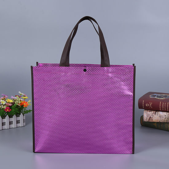 Non Woven Bag, Wholesale Reusable Promotion Eco-Friendly Durable Foldable PP Non Woven Laminated Tote Wine Garment Suit Bag, Drawstring Shopping Gift Bag Custom