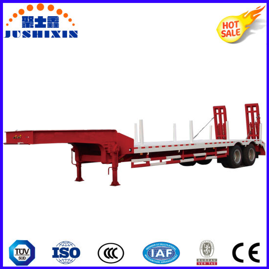 Manufacturer Jushixin 3/4 Axles 100t Low Bed Semi Trailer pictures & photos