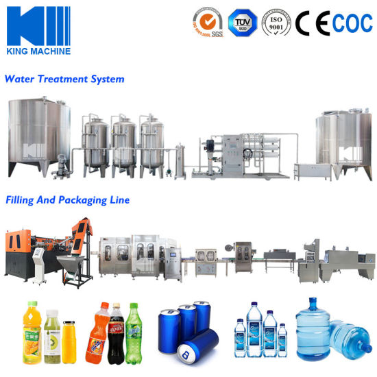 Turnkey Pet Bottle Mineral / Pure / Drinking Water Production Line