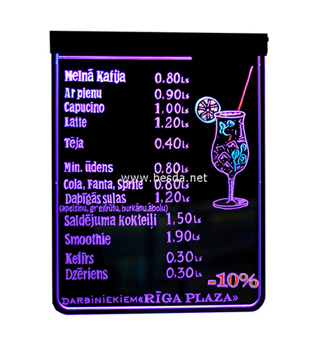 7 Colors Changing Automatically LED Writing Board LED Menu Sign pictures & photos