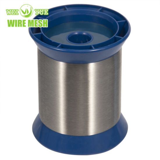 Ultra Thin 304 Bright Annealed Stainless Steel Weaving Wires/Sewing Thread Used for Cut Resistant Gloves