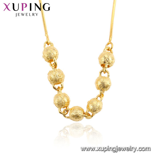 China Xuping Fashion 24K Gold Color Thin Necklace China Jewelry