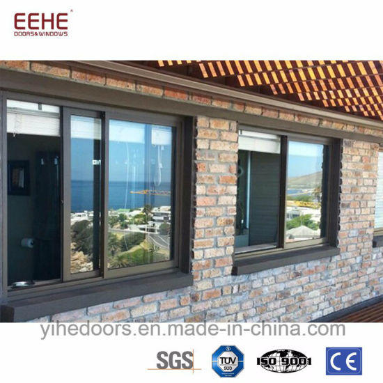 Office Sliding Glass Window In Double Layer Tempered Glazing