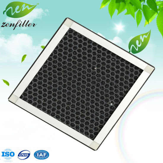 Activated Carbon Panel Filter Honeycomb Carbon Flat Air Filter with Aluminum Alloy Frame