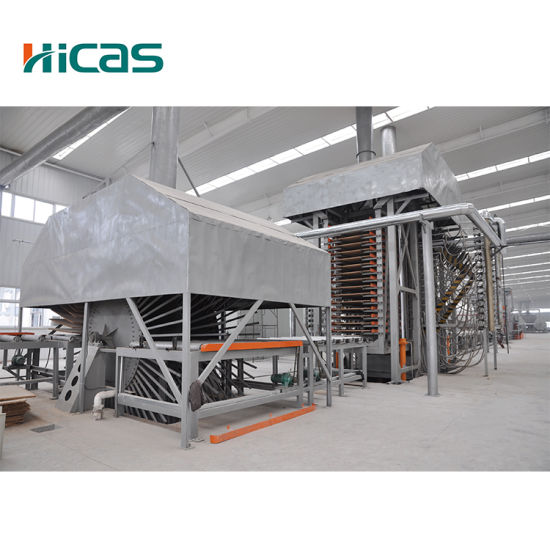 Automatic Lifting and Adjusting Particle Board Production Line pictures & photos