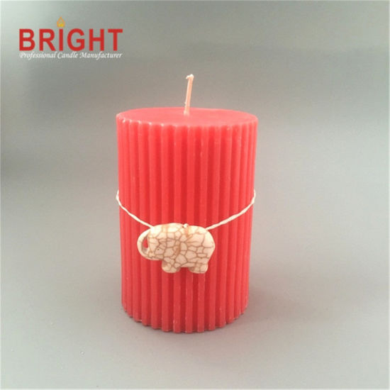 Craft Decorative Red Shaped for Gifts Pillar Candles