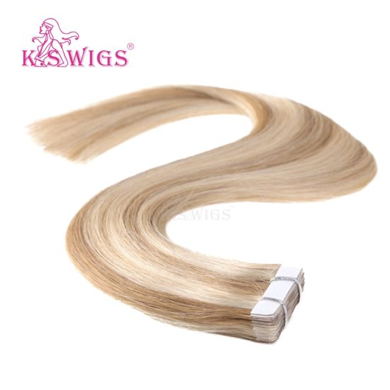 K. S Wig Virgin Brazilian Remy Tape in Hair Human Hair Extension pictures & photos
