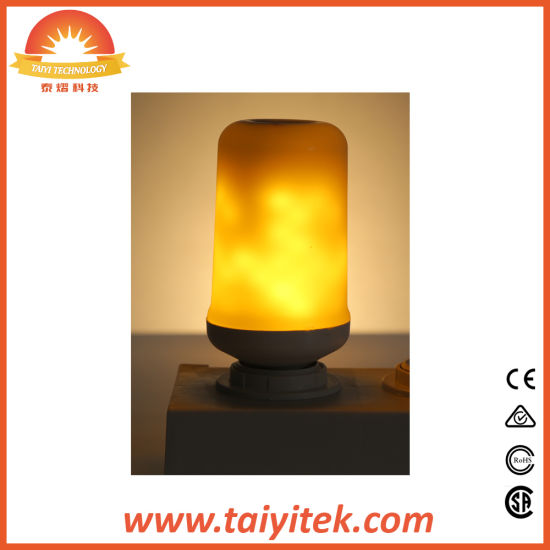 2018 New Product Fire Effect LED Flicker Flame Candle Lights E27 LED Flame Bulb pictures & photos