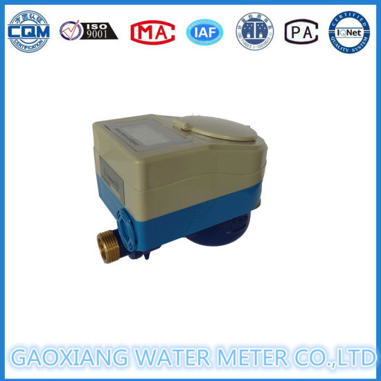 Brass IC Card Prepaid Water Meters with Motor Valve Dn15-Dn25 pictures & photos