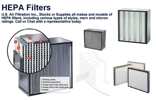 Hepa Filter For Air Conditon : China deep pleat hepa filter for hvac air conditioner
