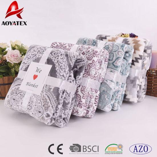 Promotional Super Soft New Design Print Flannel Fleece Blanket