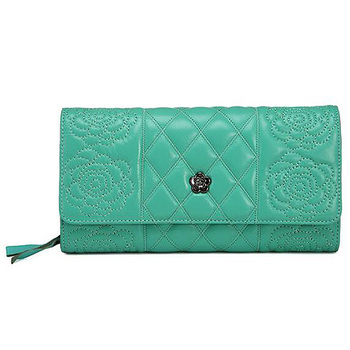 New Product Genuine Leather Women Wallet Flower Embossing Clutch Purse Competitive Price Al340