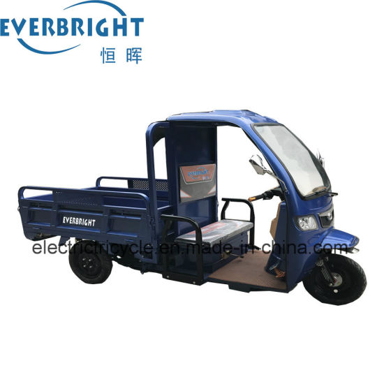 Max Speed 35km/H Drum Brake 3-Wheel Electric Cargo Tricycle
