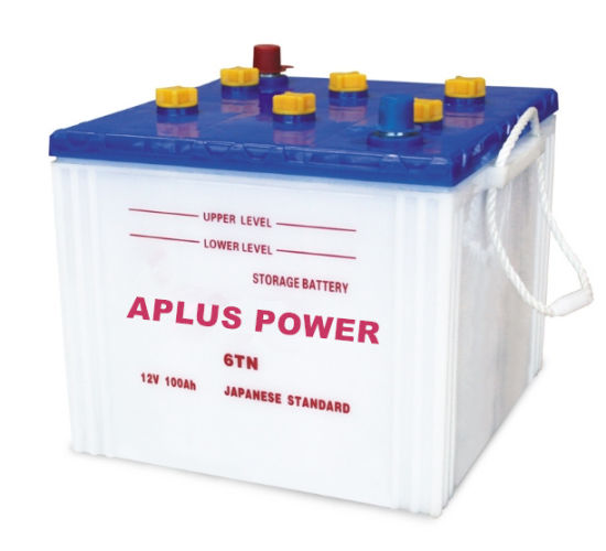 Wholesale Rechargeable Storage 12V100ah Lead-Acid Tank Dry Battery 6tn pictures & photos