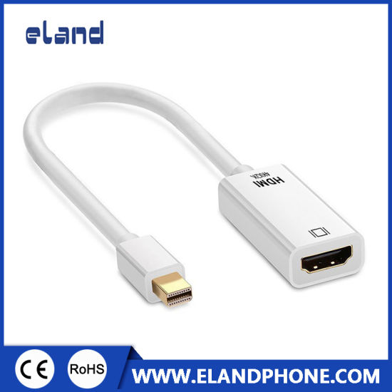 (white color) Mini Displayport Dp 1.2 to HDMI 1.4 Adapter Cable Support 3D, 4K*2K High Resolution