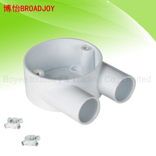 PVC Cable Conduit Electrical 2 Way Switch Gang Box