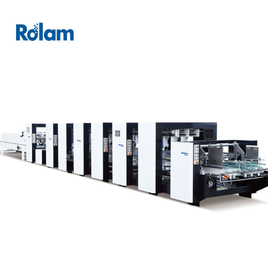 Folding Gluing Machine for Box Making Automatic 4 Corners Folder Gluer (GK-1450PCS)