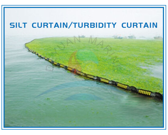 China Yellow Permeable Floating Silt Curtain In Silt Retention