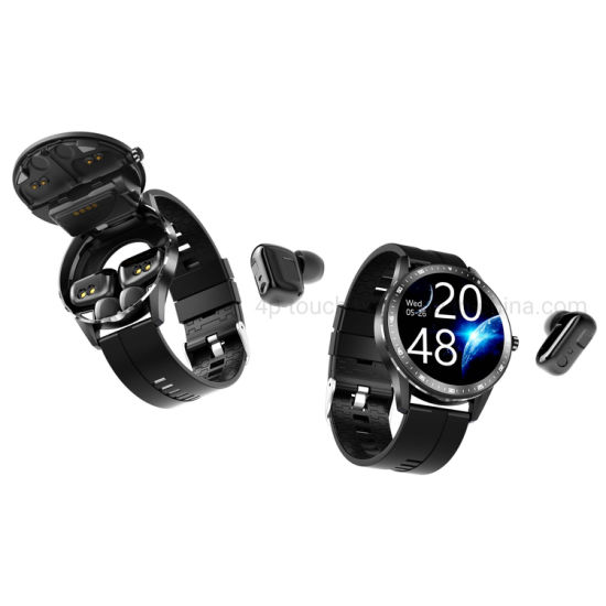 Long Working Hours Blood Pressure Full Touch Tws Bluetooth Smart Bracelet with Heart Rate X6