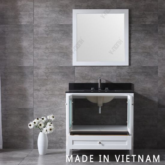 Modern White Cabinet Single Sink