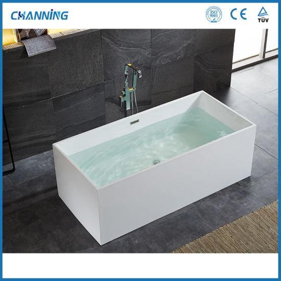 Channing Bathroom Shower Stand Alone Bath White Best Hot Tub Acrylic Freestanding Tubs Deep Soaking Bathtub (QT-031)