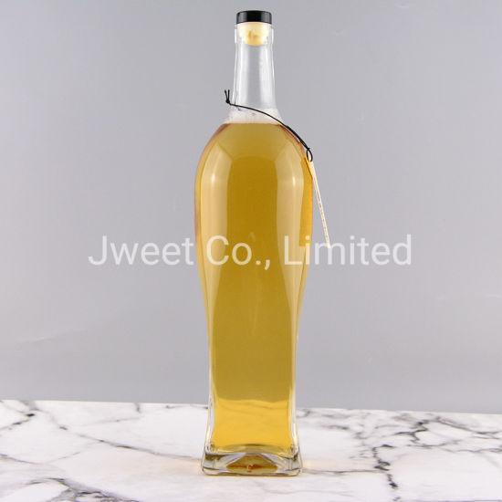 1500ml Big Volume Super White Glass Bottle for Wine Vodka