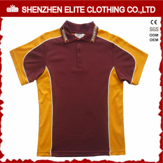 dd77d512 China Color Combination Collar Design Polo Shirt Uniform (ELTMPJ-250 ...