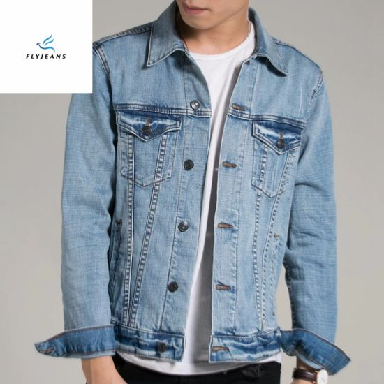 c34c25b4d89 China Hot Sale Men Light Blue Long Sleeve Denim Jackets by Fly Jeans ...