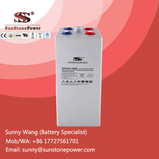 2V 1000ah Tubular Plate Gel Lead-Acid Opzv Batteries Solar Battery