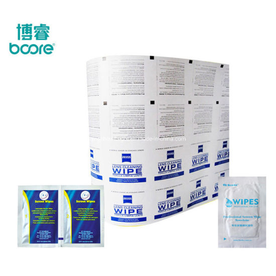 Aluminum Foil Composite Paper for Packaging Single Wet Wipe, Alcohol Prep Pad by Automatic Packaging Machine