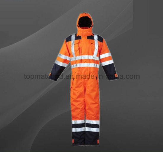 High Visibility Refelctive Winter Boiler Suit Safety Coverall for Worker