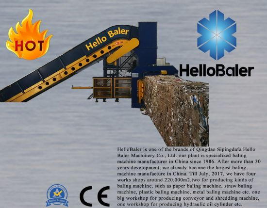 Automatic paper baler for baling strapping packaging waste paper pulp cardboard plastic scraps grass hay straw recycling