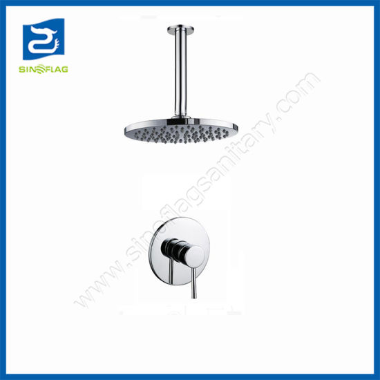 """in Wall Mounted ceiling Concealed Shower Set with 8"""" ABS Rain Head Shower"""