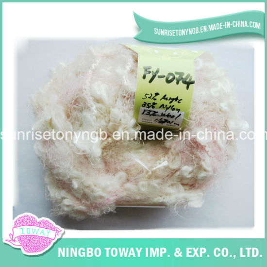 Baby Hand Knitting Acrylic Nylon Wool Boucle Fancy Yarn (FY-074)