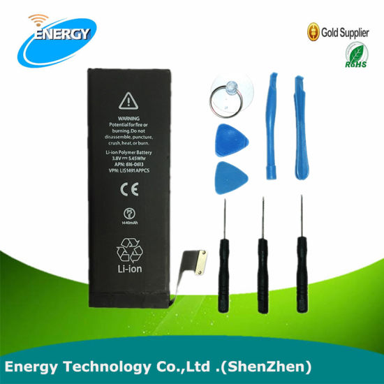 3.7V Lithium Polymer Mobile Phone Battery for iPhone 5s for iPhone 5c Battery for iPhone 5 Se