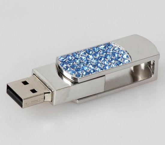 Customized Logo Crystal Pendrive Jewelry Usb Flash Drive For Wedding
