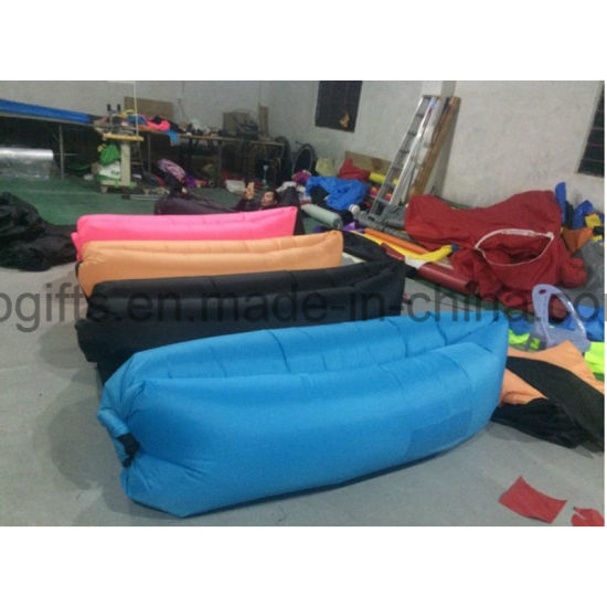 Old Outdoor Sleeping Air Lazy Bag Inflatable Waterproof Beach Bag pictures & photos
